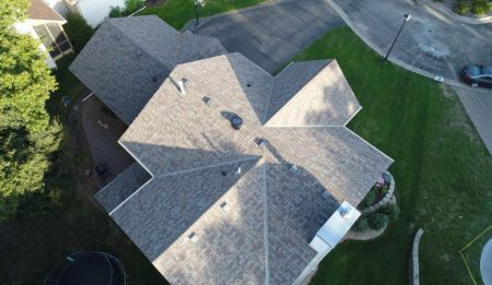 Arial View of a Repaired Roof